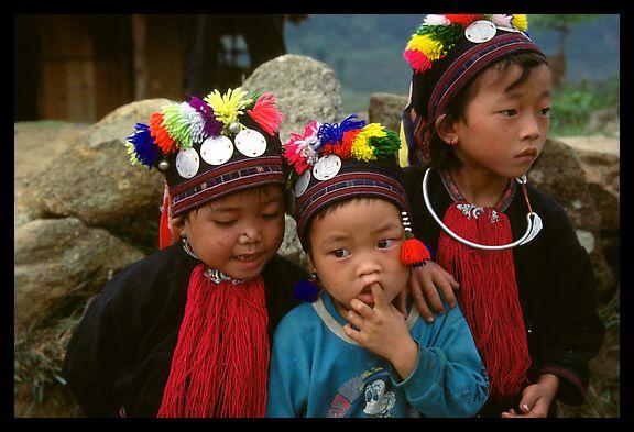 Black Dzao children