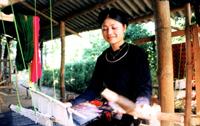 Brocade weaving village